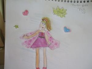 Desenho que eu fiz da barbie