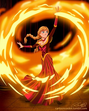 Disney Princess Avatar: fuoco Bender Anna