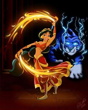 디즈니 Princess Avatar: 불, 화재 Bender 재스민 속, 재 스민