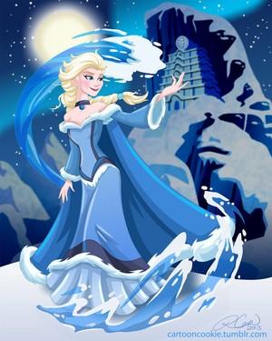 Дисней Princess Avatar: Water Bender Elsa
