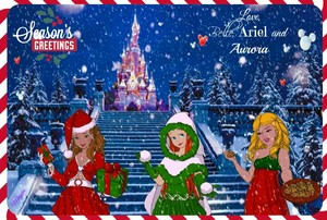 Disney Princess Christmas Card