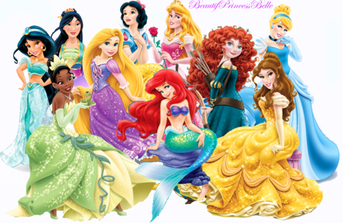 Disney-Prinzessin Hintergrund titled Disney princesses