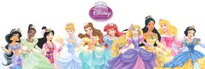 disney princesses line up