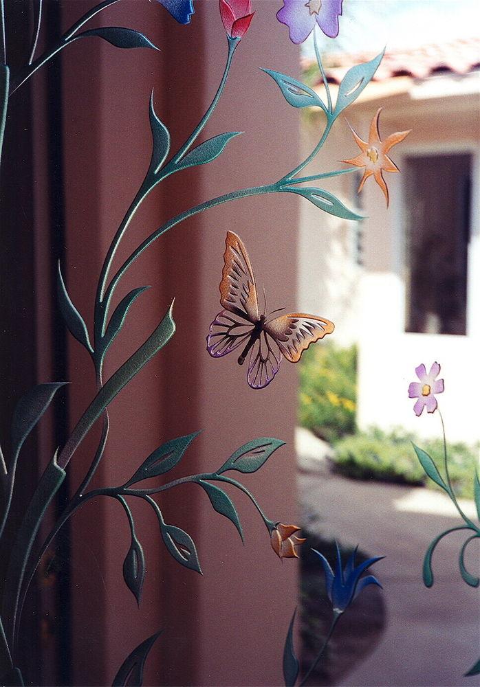 Door-glass painting