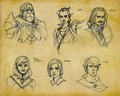 Early concept sketches for the companions in Inquisition