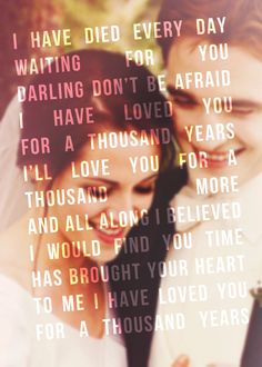 Edward and Bella,A Thousand Years<3