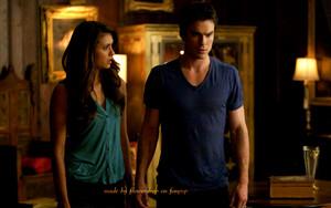 Elena and Katherine वॉलपेपर