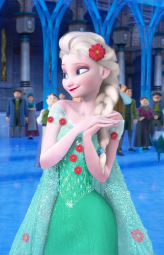Frozen Fever wallpaper probably with a bouquet entitled Elsa