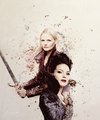 Emma and Regina             - once-upon-a-time fan art