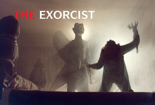 The Exorcist Hintergrund possibly with a sign, a business suit, and a konzert called Exorcist Hintergrund