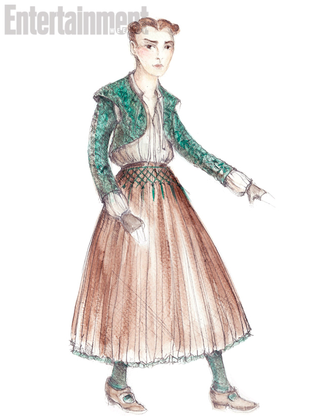 First Look at Arya's Season Five Costume Change