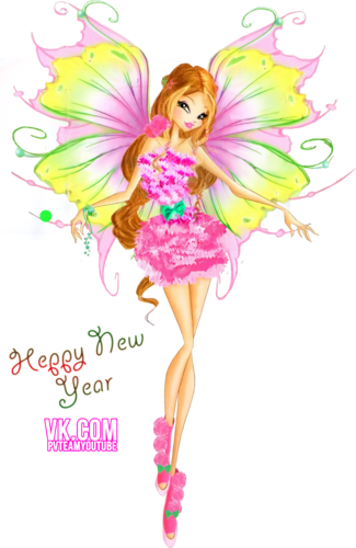 Winx Club Hintergrund with a bouquet and a rose titled Flora Mythix Couture