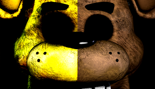 Five Nights at Freddy's پیپر وال entitled Freddy and Golden Freddy