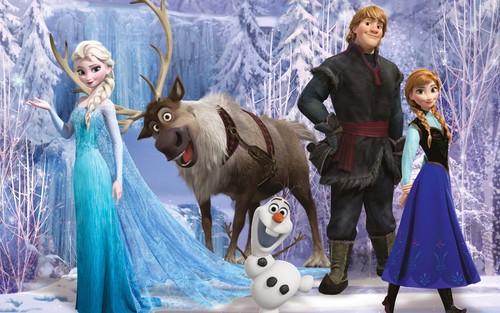 Elsa và Anna hình nền possibly containing a lippizan and a herder called Nữ hoàng băng giá hình nền