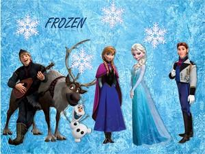 Frozen karatasi la kupamba ukuta