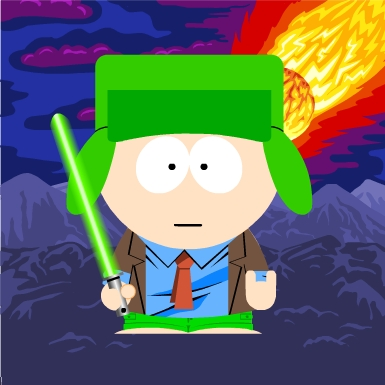 South Park kertas dinding called Galactic Kyle
