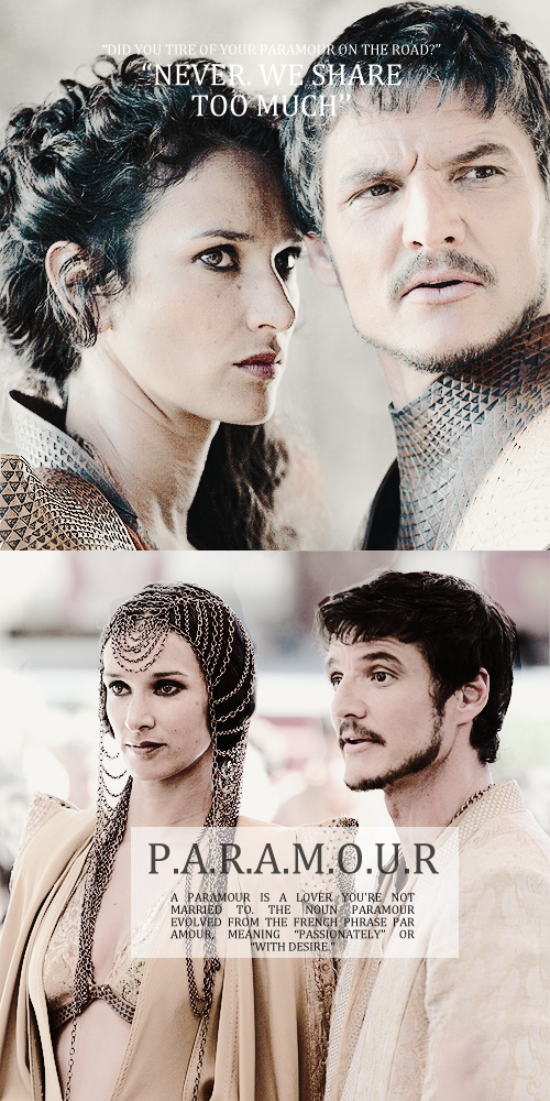 Oberyn Martell & Ellaria Sand