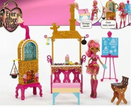 Ever After High wallpaper probably with a trono entitled Ginger Breadhouse Sugar Coated Playset 2015