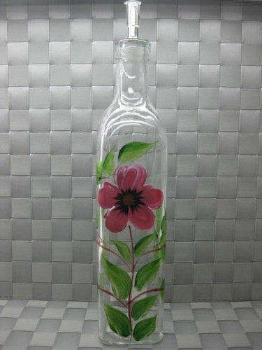 Drawing वॉलपेपर titled Glass painting-bottle