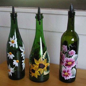 Glass painting-bottles