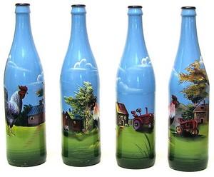 Glass painting-bottles