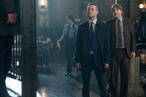 Gotham wallpaper with a business suit, a suit, and a well dressed person titled Gotham - Episode 1.12 - What The Little Bird Told Him