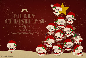 Happy Christmas! Red Background