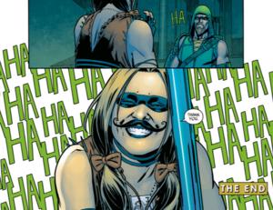 Harley Quinn's Fake Mustache