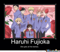 Haruhi gets all dem bishies - ouran-high-school-host-club photo