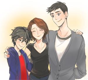Hiro, Cass and Tadashi