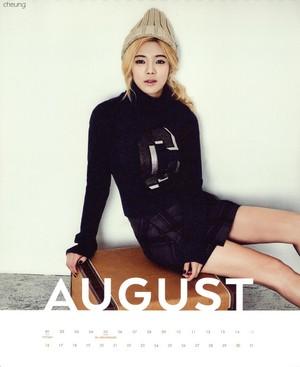 Hyeoyon (SNSD) - 2015 Calendar