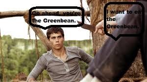 I'm eating the greenbean... Wait,