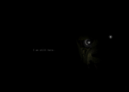Five Nights at Freddy's wallpaper possibly containing an electric eel titled Im still here.