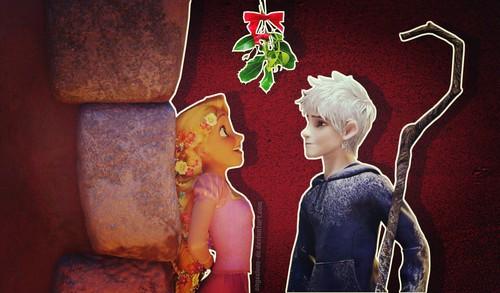 disney crossover achtergrond entitled Jack Frost/Rapunzel