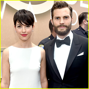 Jamie and wife Amelia at 2015 Golden Globes
