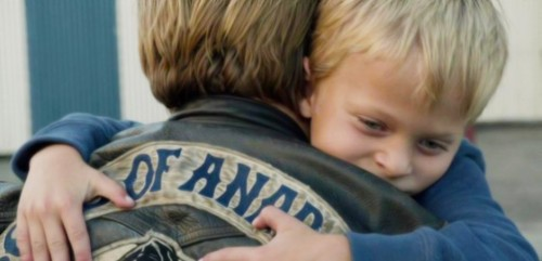 Sons of Anarchy fond d'écran titled Jax and Abel