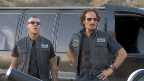 Sons Of Anarchy wallpaper probably containing a green beret, a rifleman, and a navy seal titled Juice and Tig