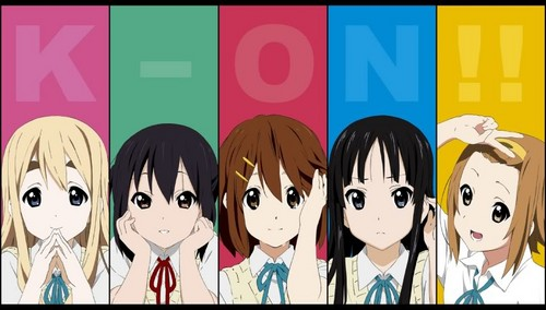 K-ON! wallpaper possibly containing anime entitled K-ON! Characters