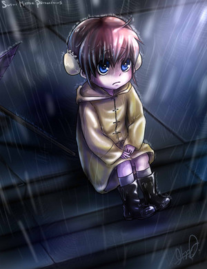 Kagura in the rain