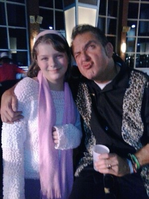 "Kassidylove and her godfather David ""Gomer Burke, New Years eve 2014"