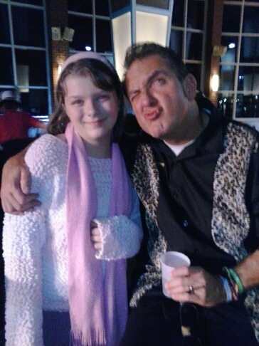 """Kassidylove and her godfather David """"Gomer Burke, New Years eve 2014"""