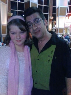 "Kassidylove and her godfather John ""Hoot"" Urbina"