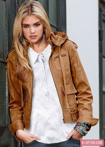 Kate Upton Hintergrund possibly containing a well dressed person, an outerwear, and an overgarment titled Kate [Unknown Shoot/Year]