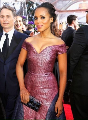 Kerry Washington at the 72nd Annual Golden Globes