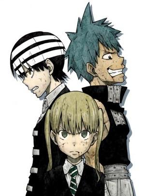 Kid, Black Star, and Maka