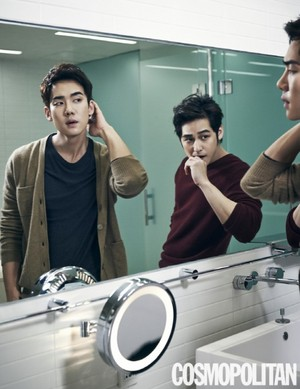 Kim Bum and Yoo Yun Suk for 'Cosmopolitan'