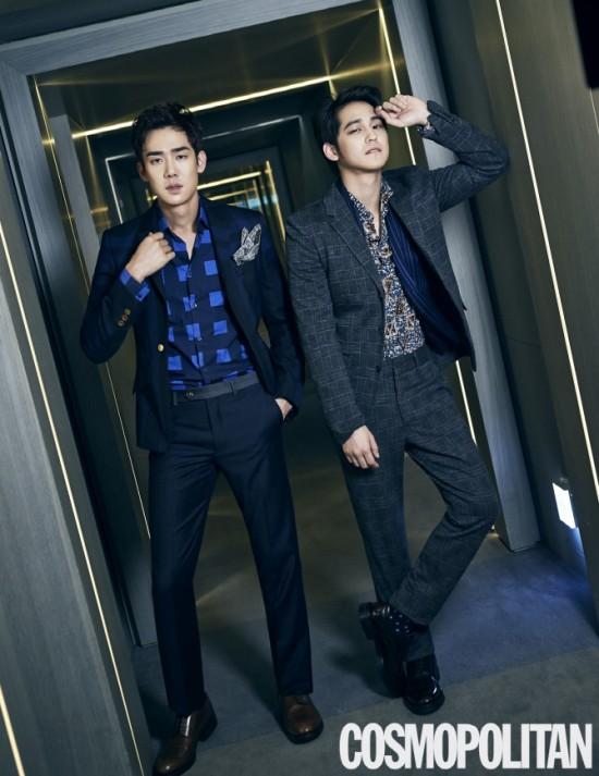 Kim Bum and Yoo Yun Suk for 'Cosmopolitan'