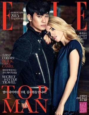 Kim Soo Hyun Covers Elle Korea's January 2015 Edition