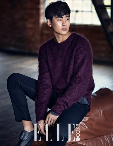 Kim SooHyun wallpaper possibly with a well dressed person entitled Kim Soo Hyun Covers Elle Korea's January 2015 Edition