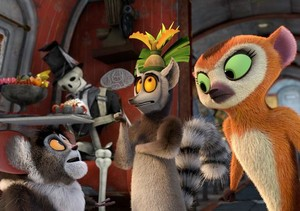 King Julien, Maurice and Clover